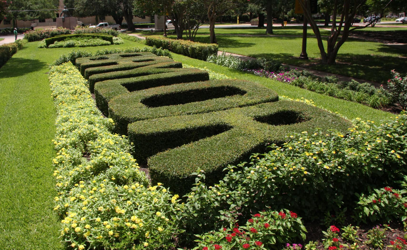 Landscape Design and Maintenance at Baylor University in Waco, Texas