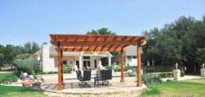 Backyard gazebo and outdoor patio