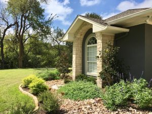 Garden and residential lawn and flower maintenance